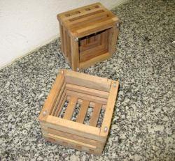 Holzkörbchen 15cm hardwood, oak