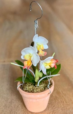 Künstliche Miniaturorchidee - Phalaenopsis - white