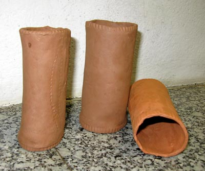 half-burnt clay pipe 5 x 14cm